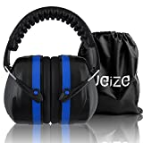 Weize Safety Earmuff Shooters Hearing Protection Foldable Ear Defenders Noise Reduction Head Band Ear Cups for Hunting Mowing Drilling(Blue)