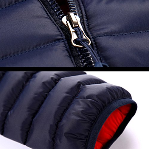 Zhhlinyuan Fashion Outdoor Warm Athletic Jacket Winter Womens Thick Down Cotton Hooded Coat Dark Blue
