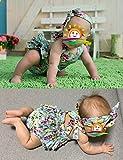 Fubin Baby Girl's Floral Print Ruffles Romper