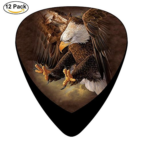 Freedom Eagle Celluloid Guitar Picks 12 Pack Includes Thin,Medium,Heavy Gauges For Electric Acoustic Guitar