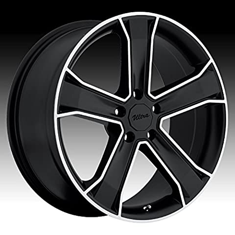 Ultra Knight 17 Black Wheel / Rim 5x115 with a 10mm Offset and a 74 Hub Bore. Partnumber 423-7891B+10