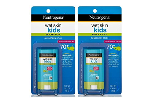 Neutrogena Wet Skin Kids Spf#70+ Stick 0.47 Ounce (14ml) (2 Pack)