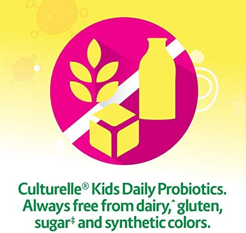 51qHG1XCwDL. AC - Culturelle Kids Chewable Daily Probiotic For Kids - Natural Berry - Supports Immune, Digestive, And Oral Health - For Age 3+ - Gluten,Dairy,Soy-Free - 30 Count (AMR-028)