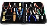 JEWELRY MAKING TOOLS HAND TOOLS KIT FOR BEADWORKING HOBBY MODEL MAKING DLX 15pc (LZ 2.3 FRE)