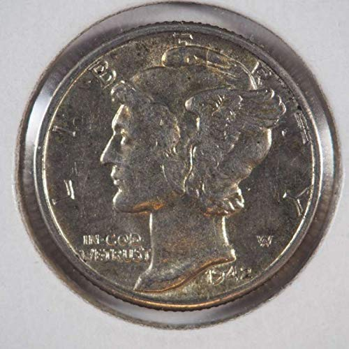 - 1942 P Mercury Dime Silver Dimes Ungraded