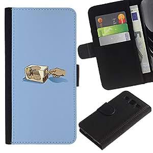 LECELL--Cuero de la tarjeta la carpeta del tirón Smartphone Slots Protección Holder For Samsung Galaxy S3 III I9300 -- Lápiz Grinder --