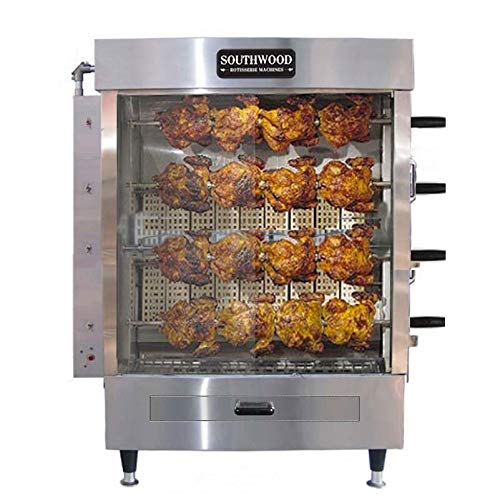 (Southwood RG4 20-Chicken NG (LP Avail) Gas Heavy-Duty Rotisserie Machine)