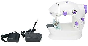 FreeTec Mini máquina de coser Eléctrica, Con Luz de Iluminar Aguja