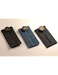Best Choice 3 Easy Jean Waist Extenders -- with Metal Button