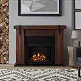 "Real Flame Aspen Electric Fireplace, 48.5"" L x 13.5"" W x 38.19"" H, Chestnut Barn Wood"