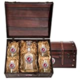 Alabama Crimson Tide Capitol Decanter Wood Chest Set