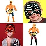 us champion belt - Juniors Elite 2 Wrestling Toy Figures & 2 Half Masks for Kids - Play as WWE Champions