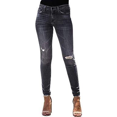 Strir Vaqueros Mujer Push Up Tejanos Mujer Cintura Alta Pantalones Pitillos Elasticos Rotos Agujero Casuales Jean