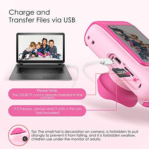 Hamdol Kids Camera for Girls, Birthday Gifts Toys for 3 4 5 6 7 8 9 10 Year Old Boys, Toddler Camera, Digital Video…