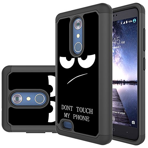 ZTE Blade X Max Case,ZTE ZMax Pro Case, Skmy Shockproof Impact Hybrid Dual Layer Defender Protective Cover rugged Armor Case for ZTE ZMax Pro/Imperial Max/Grand X Max 2/Z981 ( My Phone)
