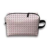 Love Heart Pattern Cosmetic Bags Makeup Organizer Bag Pouch Zipper Purse Handbag Clutch Bag
