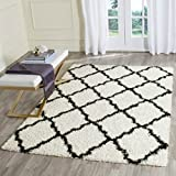 Safavieh Daley Power-Loomed Shag Area Rug- 5 /1  X 7 /6 - Ivory/Black