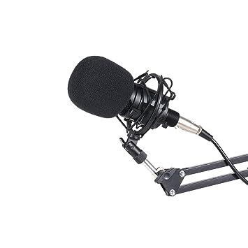 Festnight Transmisión de Micrófono de Condensador Tarjeta de ...