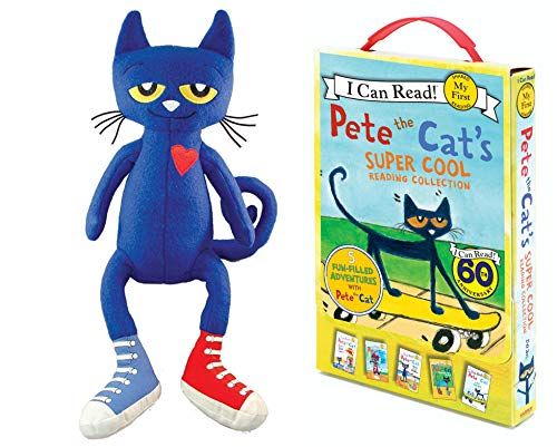 Pete The Cat Bundle with 14.5 Plush Doll and Pete The Cats Reading Collection (My First I Can Read), 5 Book Set -