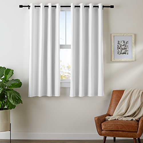 - AmazonBasics Room-Darkening Blackout Curtain Set with Grommets - 52