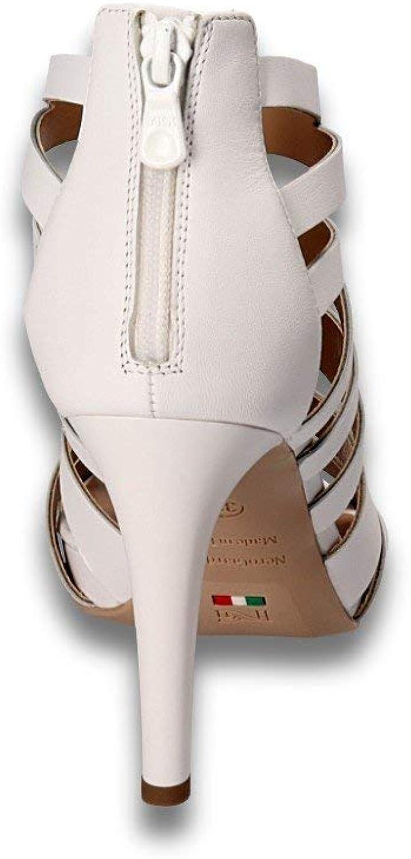Nero Giardini 8500 Nero Scarpe Donna Sandali Tacco Eleganti Pelle Nero