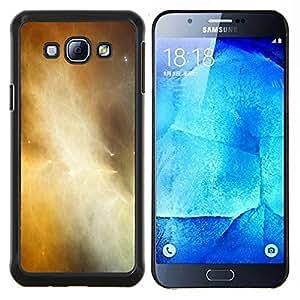 """Be-Star Único Patrón Plástico Duro Fundas Cover Cubre Hard Case Cover Para Samsung Galaxy A8 / SM-A800 ( Universo de gas de la nube Galaxy amarillas Estrellas"""" )"""