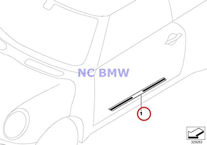 Amazon Com 2 X Bmw Mini Genuine Door Sill Plate