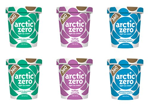 Arctic Zero Mint & Chocolate Cookies, Toffee Crunch and Peanut Butter Bakery and Dessert Gifts, 16 Fluid Ounce (pack Of 6) by Arctic Zero