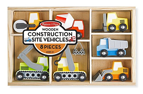 Melissa-Doug-Wooden-Construction-Site-Vehicles-With-Wooden-Storage-Tray-8-pcs