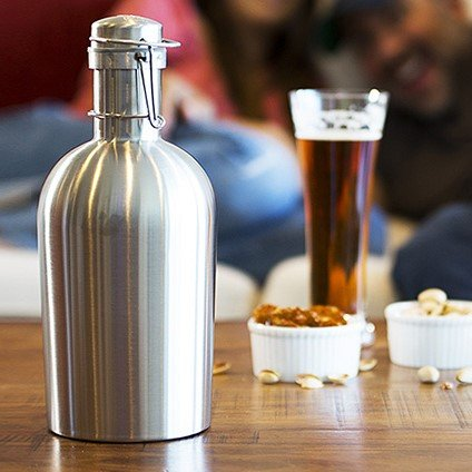 Alcraft Stainless Steel 64 Ounce Beer Growler, Silver by Alcraft (Image #3)