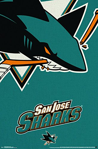 Trends International San Jose Sharks Logo Wall Poster 22.375