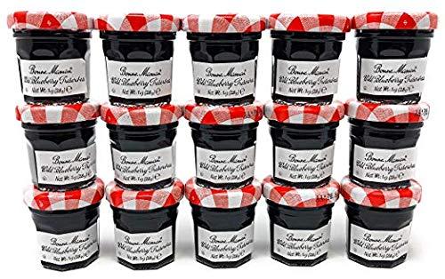 Bonne Maman Blueberry Preserve Mini Jars - 1 oz x 15 pcs Kosher (Jelly Vs Jam Vs Preserves Vs Marmalade)