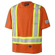 Pioneer V105115R-M Birdseye Safety T-Shirt, Orange M