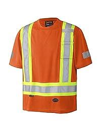Pioneer V105115R-XL Birdseye Safety T-Shirt, Orange XL