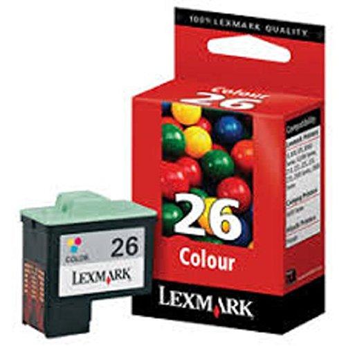 Lexmark 26 (10N0026) Color OEM Genuine Inkjet/Ink Cartridge (275 Yield) - Retail