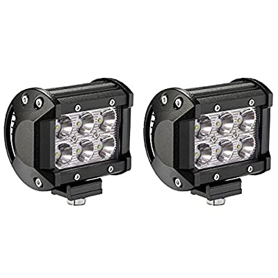 "2x Blair Offroad 3"" 18w R-Spec Off Road LED Work Light Bar Flood/Spot Combo Beam-3W LED 18w cree pods Lumen Great For Jeep Cabin/Boat/SUV/Truck/Car/ATV"