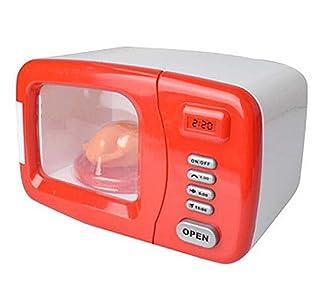 Black Temptation Mini Elettrodomestici Giocattolo Simpatico Set Simulazione Forno a microonde Toy-Red