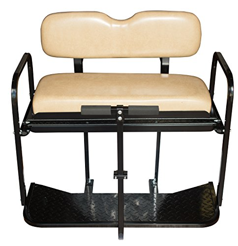 EZGO TXT Golf Cart Rear Flip Back Seat Kit - Factory Tan by Performance Plus Carts (Image #1)