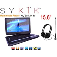 15.6 Inch TV /portable DVD All Multi Region all zones HD Swivel Portable DVD Player SYDVD9113TV