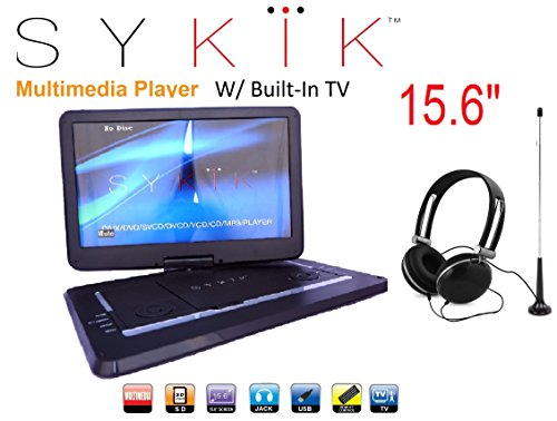 15.6'' Inch TV /portable DVD All Multi Region all zones HD Swivel Portable DVD Player ()