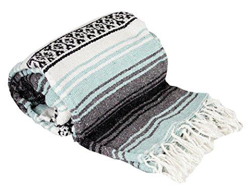 Canyon Creek Authentic Mexican Yoga Falsa Blanket (Sea Green)