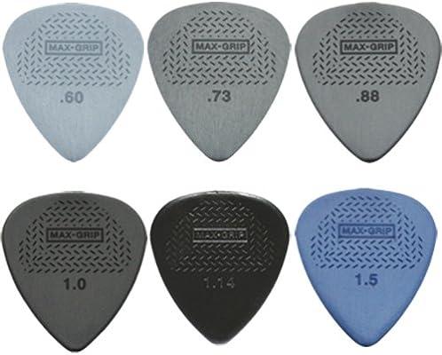 Jim Dunlop - Juego de 12 púas para guitarra, máximo agarre (2 de ...