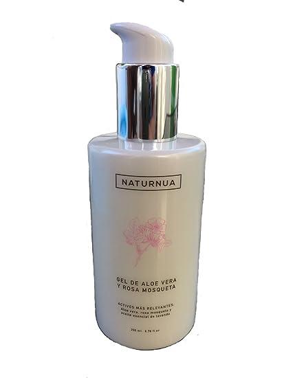 Crema gel de aloe vera y rosa mosqueta natural aceite esencial de lavanda/after sun