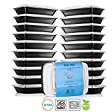 Chef's Star 1 Compartment Reusable Food Storage Containers with Lids - 21 oz - BPA Free - Microwave Safe - Dishwasher Safe - Stackable - 10 Per Pack - Set Of 2