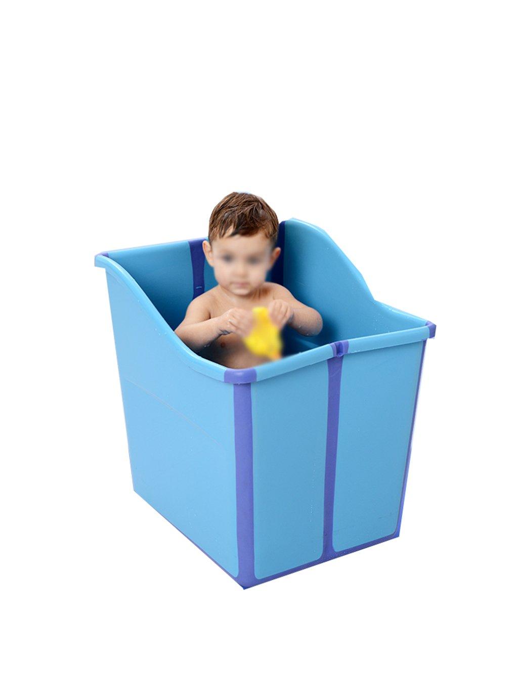 AJZGF Aufblasbare aufblasbare Kinderbadewanne 90  70 cm der Haushaltsisolierung Badewanne ( Farbe   Ölau )