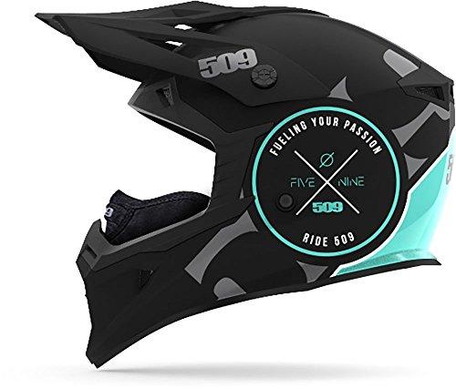 Teal Motorcycle Helmet - 8