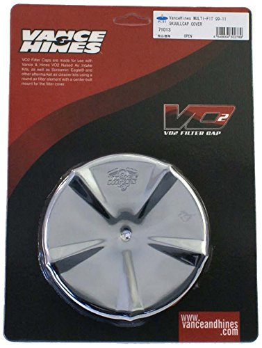 Vance & Hines VO2 Skullcap Crown Air Cleaner Insert Smooth Chrome 71013 ()