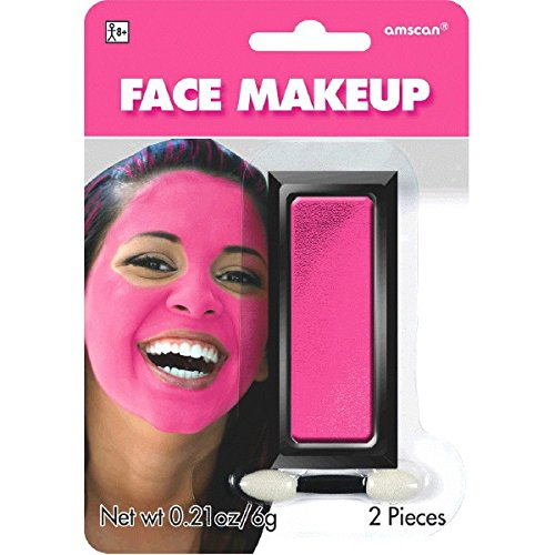 Party Perfect Team Spirit Cream Face Makeup Accessory, Pink, Non Toxic , .21Ounces (Paint Pink Face)