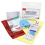 Pac-Kit by First Aid Only Wall-mounted Bloodborne Pathogen and Bodily Fluid Spill Kit in Plastic Carry Case, OSHA, 24 Pieces, White, Portable (214-U/FAO)