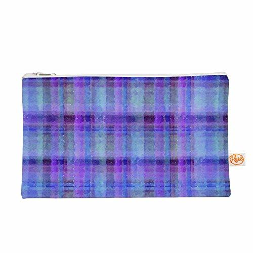 Kess eigene 12,5x 21,6cm Carolyn greifeld Watercolor blau Plaid Alles Tasche–Violett